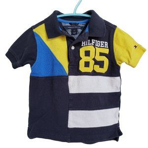 TOMMY HILFIGER Navy Yellow & White SS Polo 2T